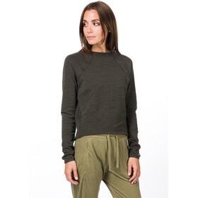 super.natural Super Crop Sweater Women killer khaki 3d